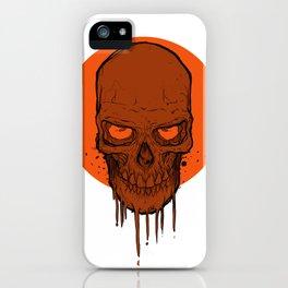 Skull in Red iPhone Case