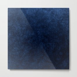 Royal Blue Velvet Texture Metal Print