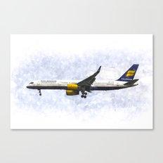 Icelandair Boeing 757 Art Canvas Print