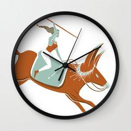 Fox Rider Wall Clock
