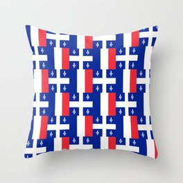 Mix of flag: France and Quebec Throw Pillow