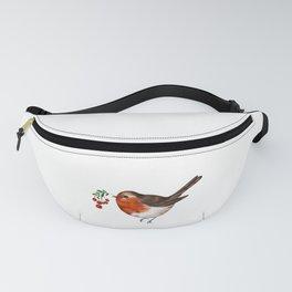 Robin bird art Fanny Pack