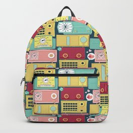 Turn the vintage radios on Backpack