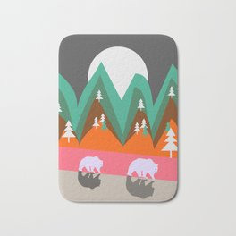 Bears walking home Bath Mat