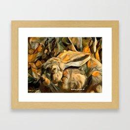 Splitting Hares Framed Art Print