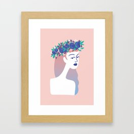Couronne bleue Framed Art Print