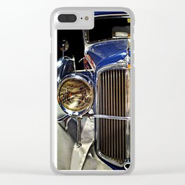 Blue Royal Coupe Clear iPhone Case