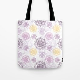 Purple Mandala pattern, Mandala texture, Simple design Tote Bag