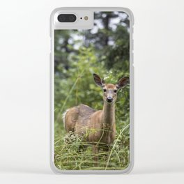 Wandering Deer Clear iPhone Case