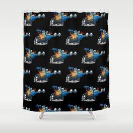 Top Fuel Dragster Cartoon Shower Curtain