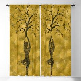 Tree pose Blackout Curtain