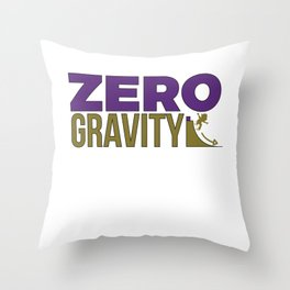 Funny & Awesome Gravity Tshirt Design Zero Gravity Throw Pillow