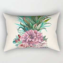 Floral Pineapple Rectangular Pillow