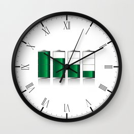 Battery Charge Indicator Wall Clock