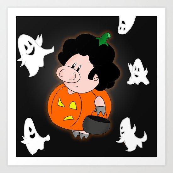 Halloweenie Art Print