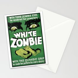 White Zombie Stationery Cards