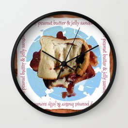 Peanut, Butter & Jelly Sandwich (Things to Punch) Wall Clock
