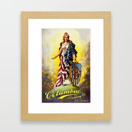 Vintage 1896 Columbia Brewing Company Lithograph Wall Art Framed Art Print