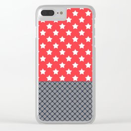 Star patchwork 2 Clear iPhone Case