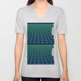 80's Postmodern Mystery Grid Unisex V-Neck