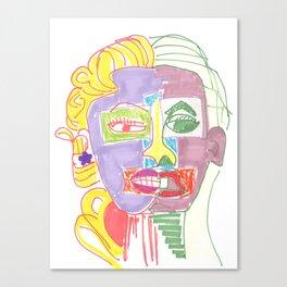 Crazy Face Mo Canvas Print