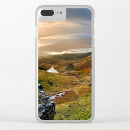 Scotland Scenic Rolling Hills Landscape Clear iPhone Case