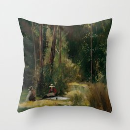 Tom Roberts - A Sunday Afternoon - Australian Oil Painting Throw Pillow