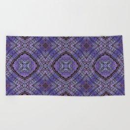 Purple Zen Doodle Pattern Beach Towel
