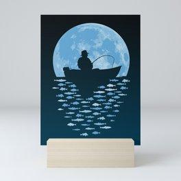 Hooked by Moonlight Mini Art Print