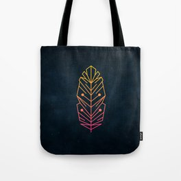Minimalist Feather Tote Bag