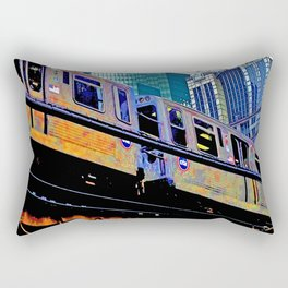 Chicago 'L' in multi color: Chicago photography - Chicago Elevated train Rectangular Pillow
