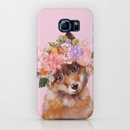Baby fox with Flower Crown iPhone Case
