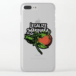 Legalize Marinara Clear iPhone Case