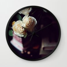 i'd rather have roses Wall Clock
