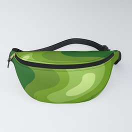 Multi Color Green Liquid Abstract Design Fanny Pack