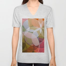 Abstract Composition 626 Unisex V-Neck