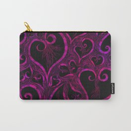 Tendrils of Love xoxo Pink and purple Carry-All Pouch