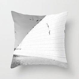 Shadows birds Throw Pillow