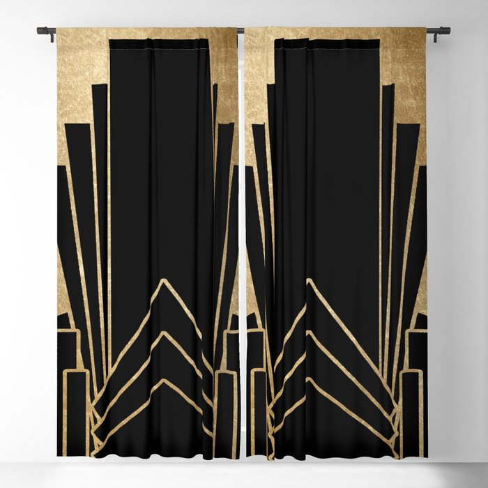 Art Deco Design Blackout Curtain By Peggieprints