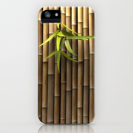 Bamboo Wall iPhone Case