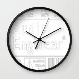 Audio engineers Wall Clock