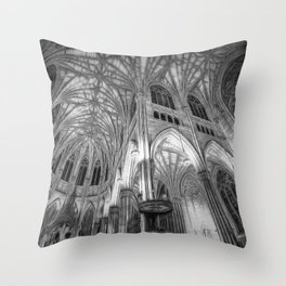St Patrick's Cathedral New York Art Throw Pillow
