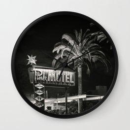 Classic Roadside Motel Wall Clock
