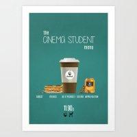 Cinema student menu Art Print