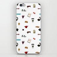 klaine iPhone & iPod Skins featuring Pattern of Klaine things by Jen K