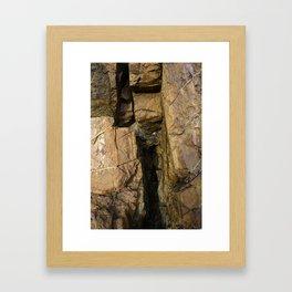 Door into the Cliff Face Framed Art Print