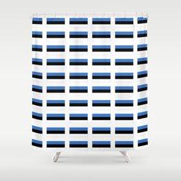 Flag of estonia -estonian,baltic,tallinn,tartu,eesti,balti,slav,viking,baltico,parnu Shower Curtain