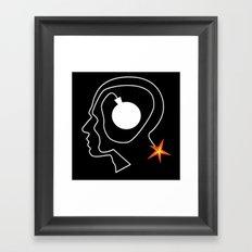 Mind Bomb Framed Art Print