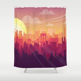 Brooklyn Sunset Shower Curtain