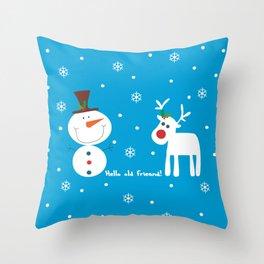 Snow men Throw Pillow